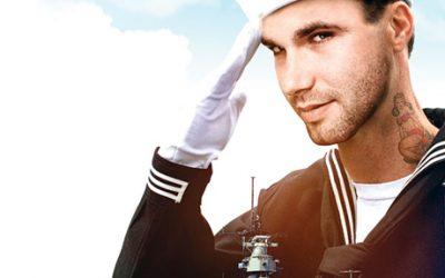 Sailor and ship illustration