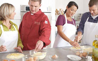 Adult pasta-making image