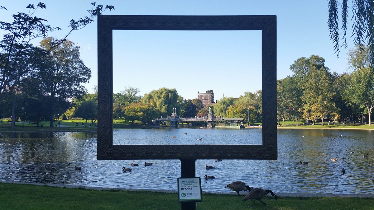Frame your photos at the public garden with fopg boston magazine friends of the public garden has set up three picture frames around the parkoto by yiqing shao jeuxipadfo Gallery