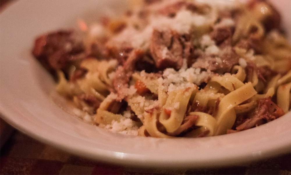 Tagliatelle al ragu at La Morra in Brookline