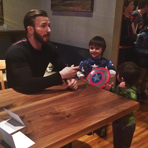 Kids said the darndest things at chris evanss meet and greet m4hsunfo