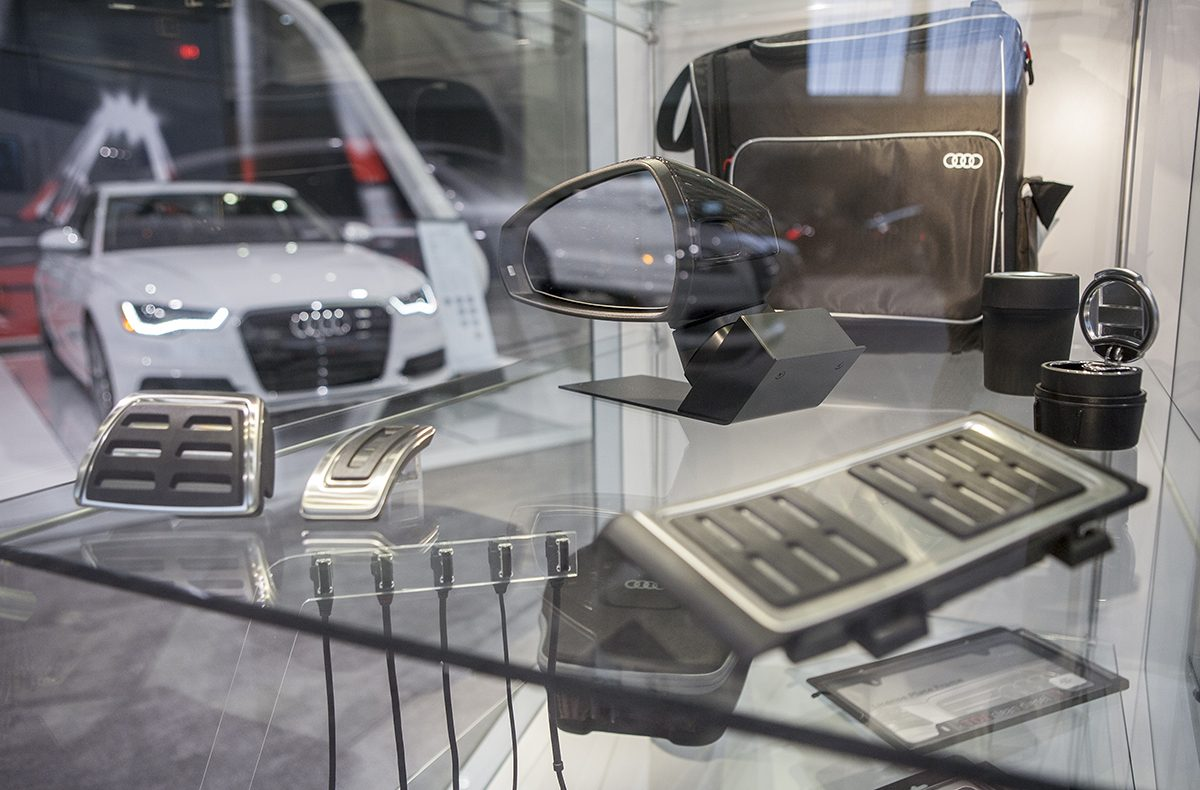 Photos From The New England International Auto Show - Car show display accessories