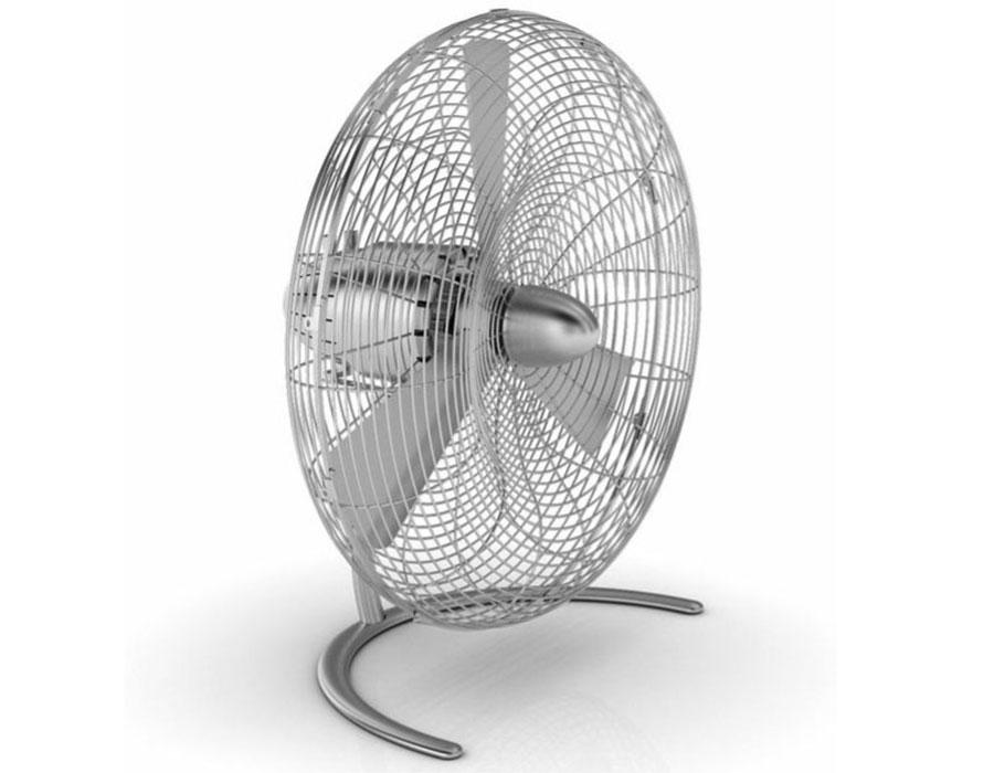 The Deco Breeze Round Retro Table Fan 25