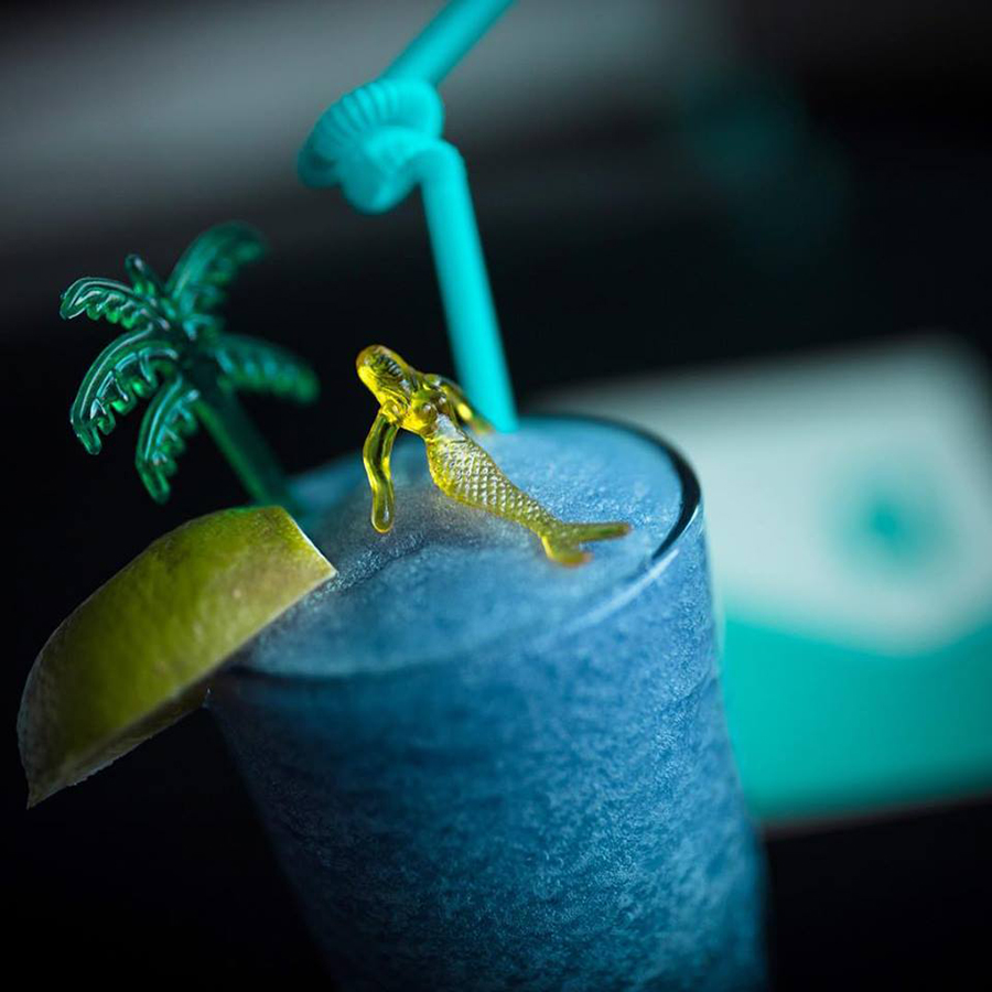 The frozen blue margarita at the Automatic