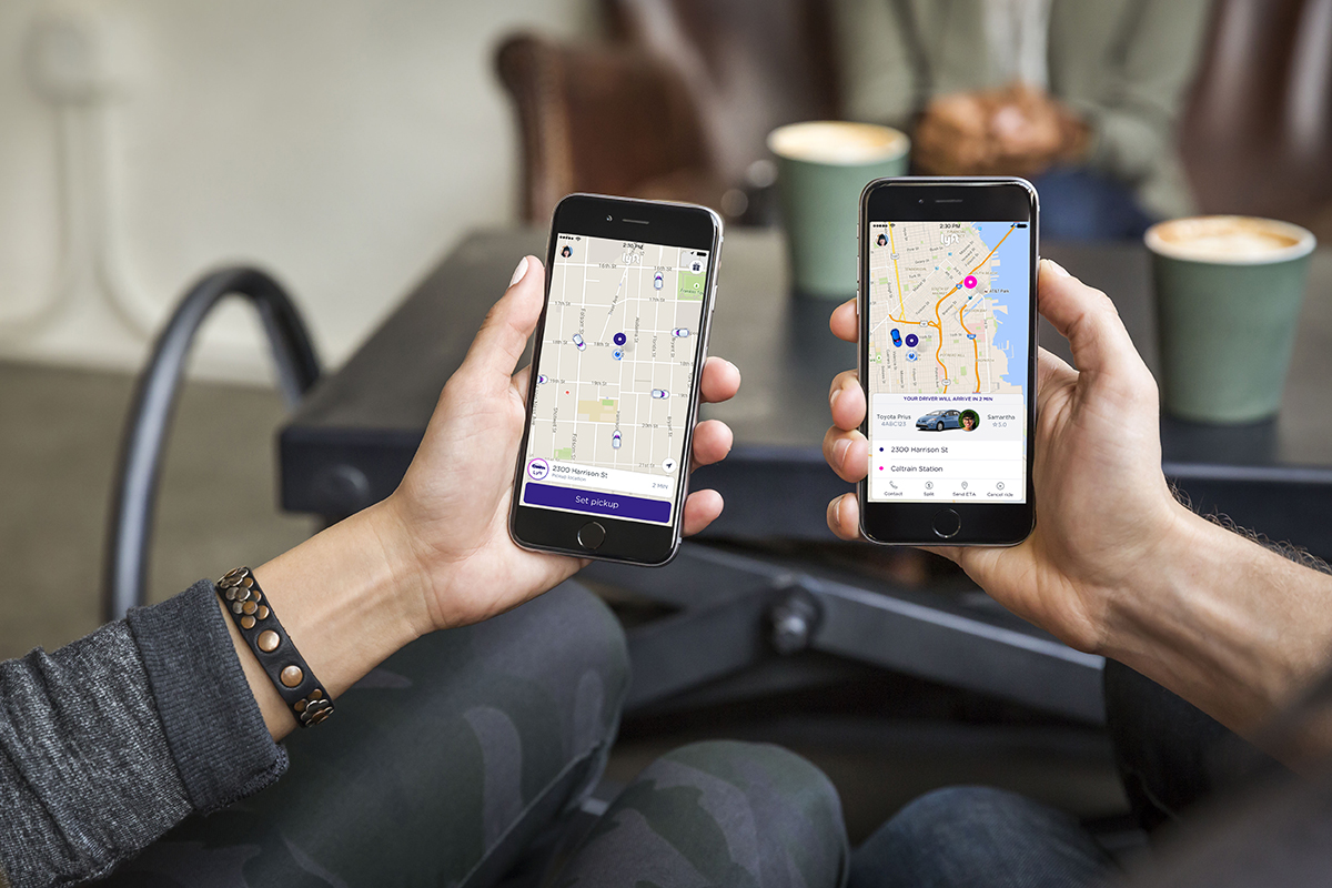The Lyft app via Lyft