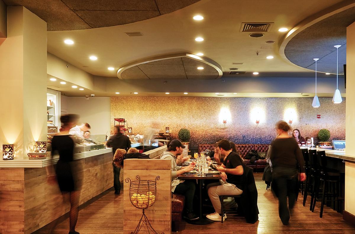 The dining room at Doretta Taverna & Raw Bar