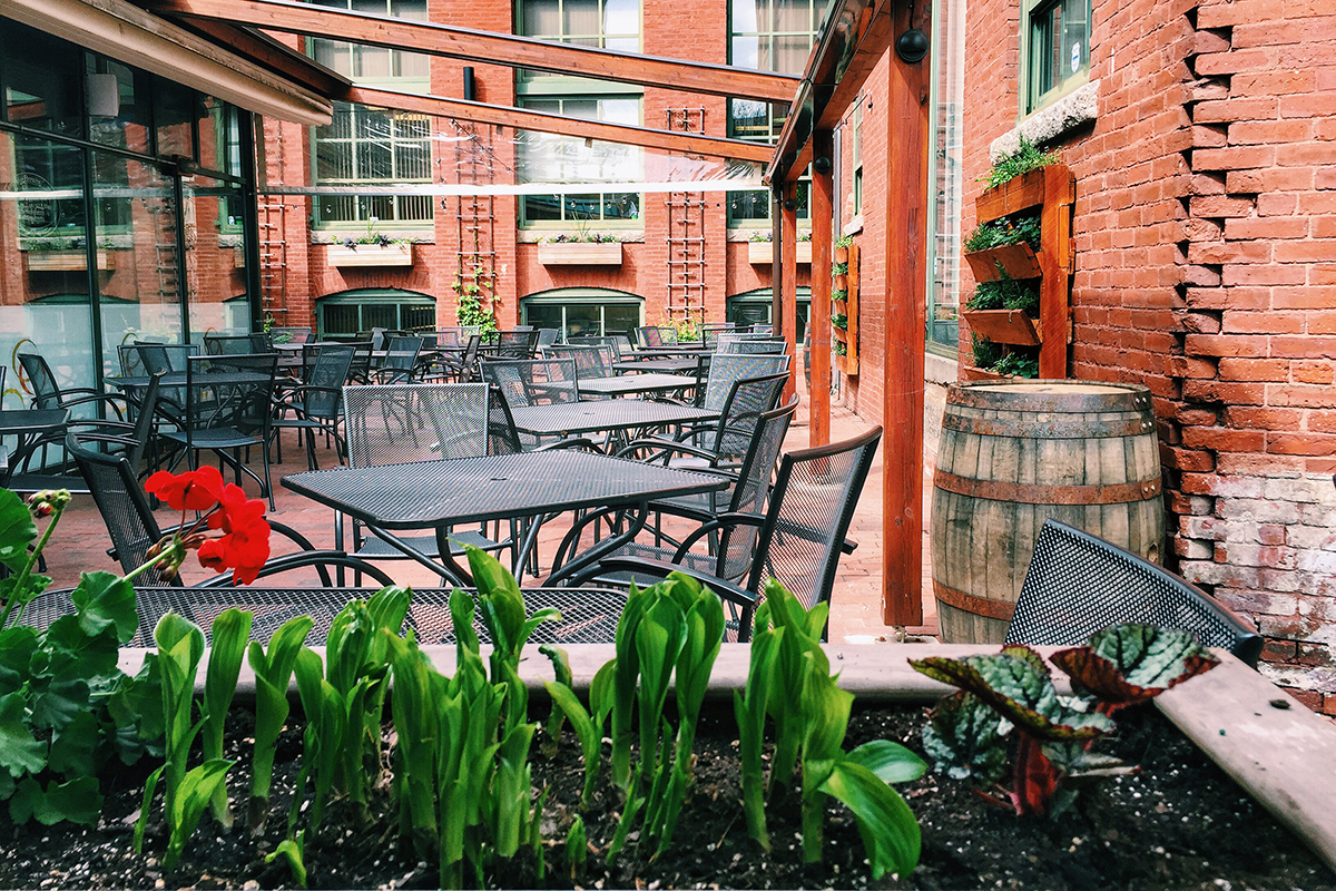 Cambridge Brewing Company patio