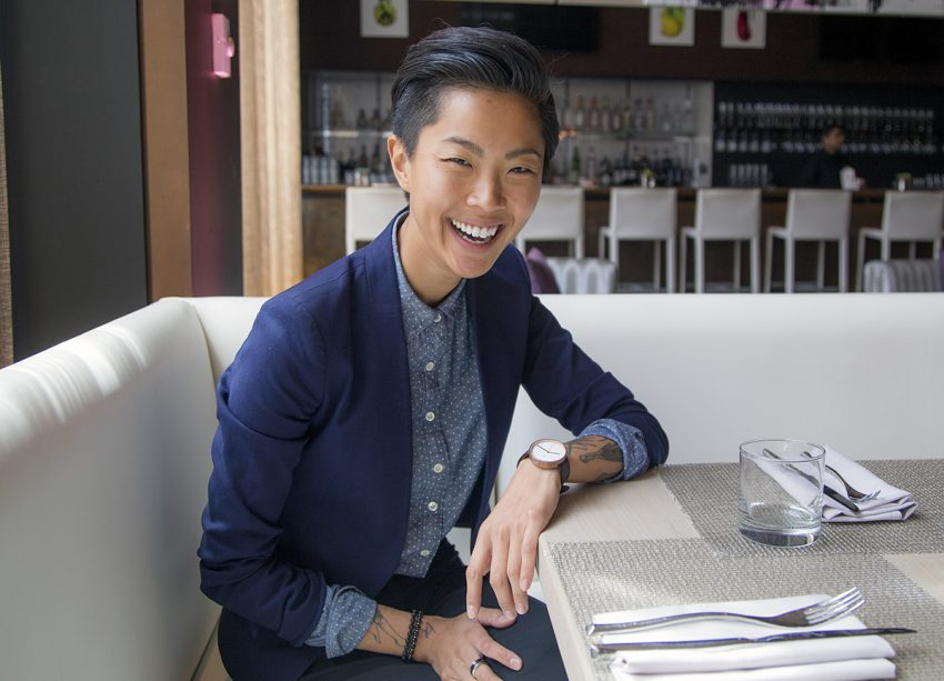 Chef Kristen Kish at the W Hotel Boston