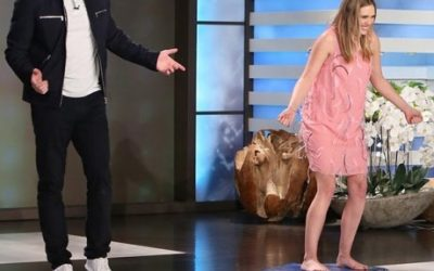 Chris Evans and Elizabeth Olsen on the 'Ellen DeGeneres Show'