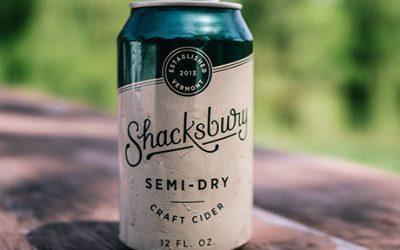 Shacksbury cider cans