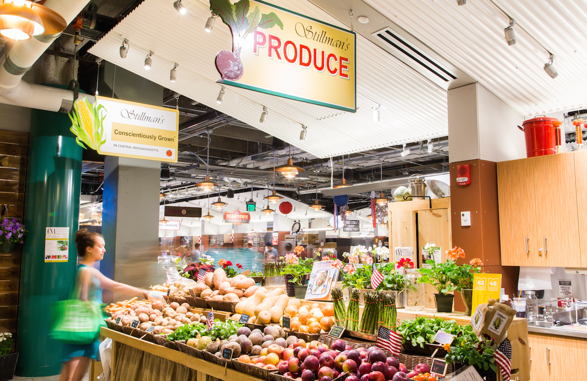 Boston Public Market produce