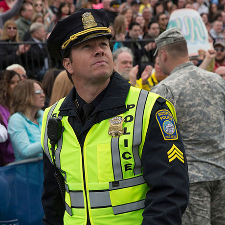 ... Kevin Bacon, playing head of Boston FBI Richard DesLauriers, looks at a  ball bearing in the aftermath of the 2013 Boston Marathon bombing and says,  ...