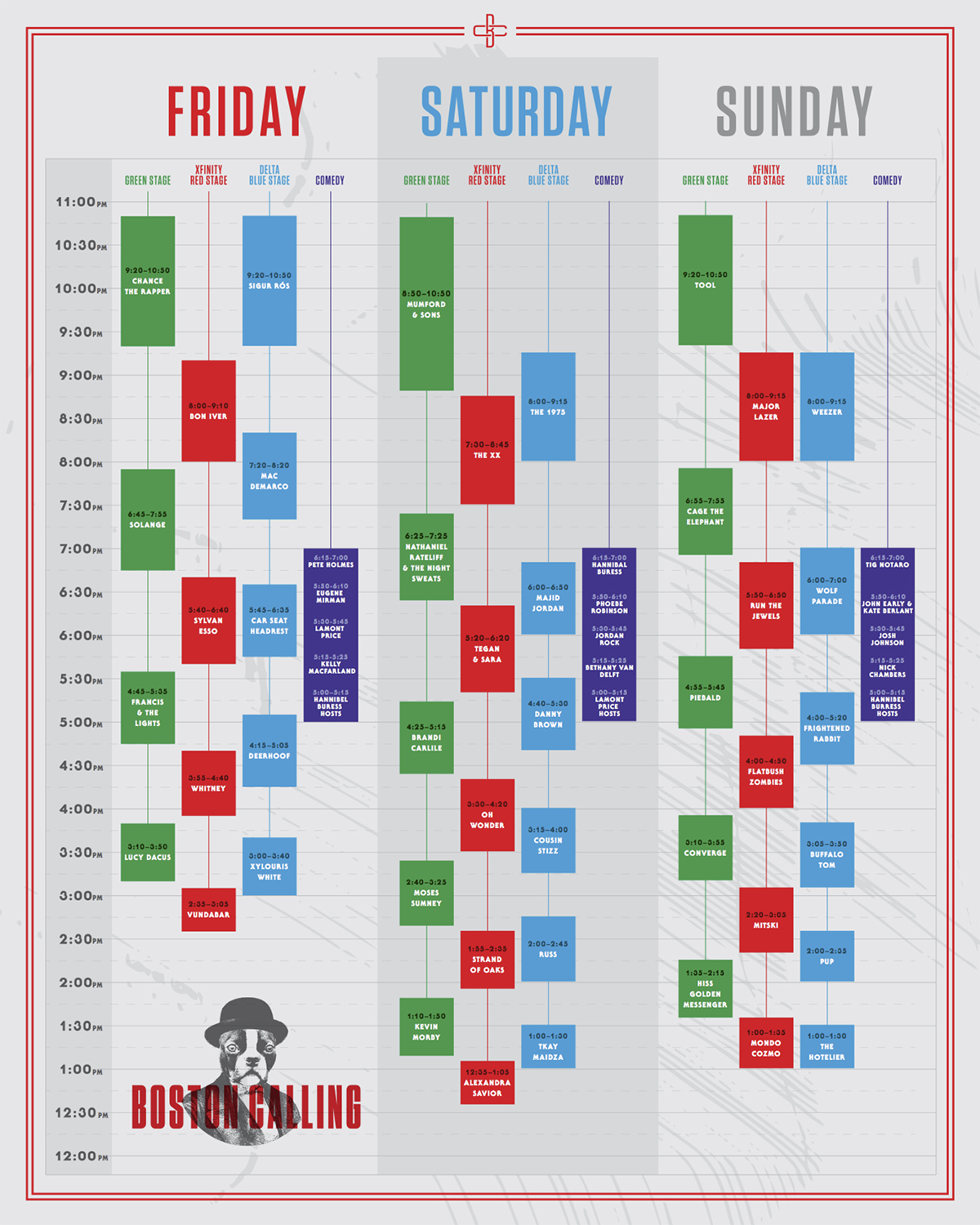 Boston Calling Daily Lineup Schedule 2017