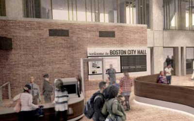 City Hall Lobby Rendering provided by the City of Boston