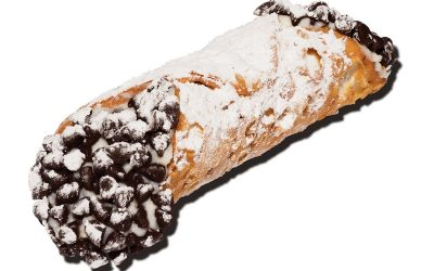 a ricotta cannoli from Maria's Pastry Shop