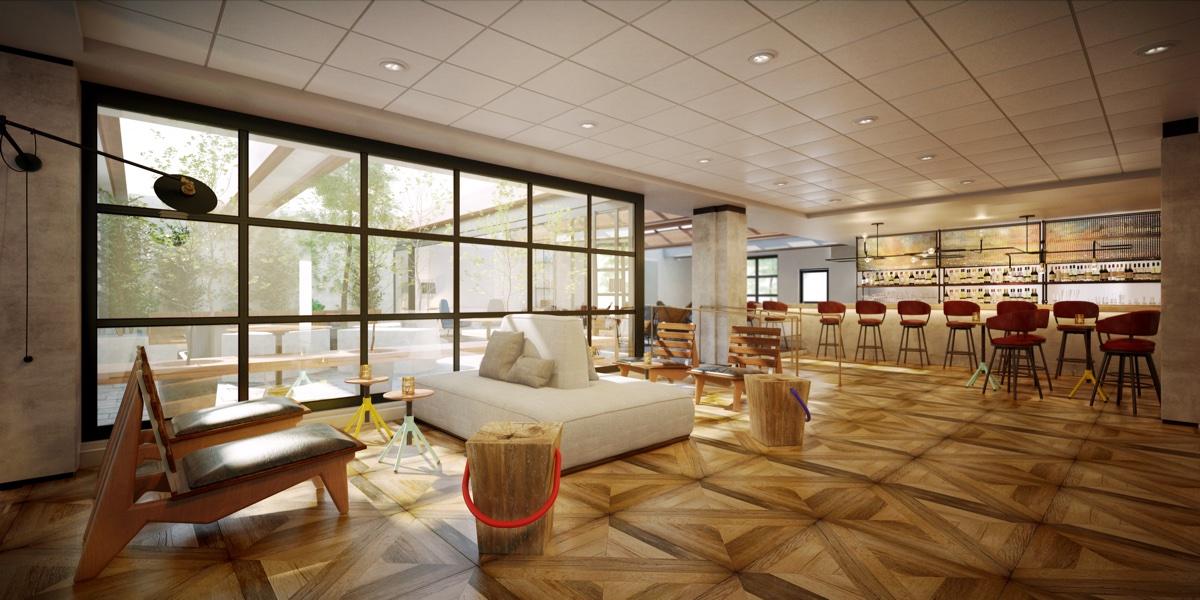 Freepoint Hotel Lobby rendering provided