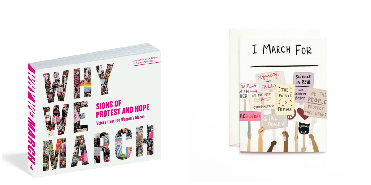 Why We March Photo Book and Women's March cards / Photo provided by Olives and Grace