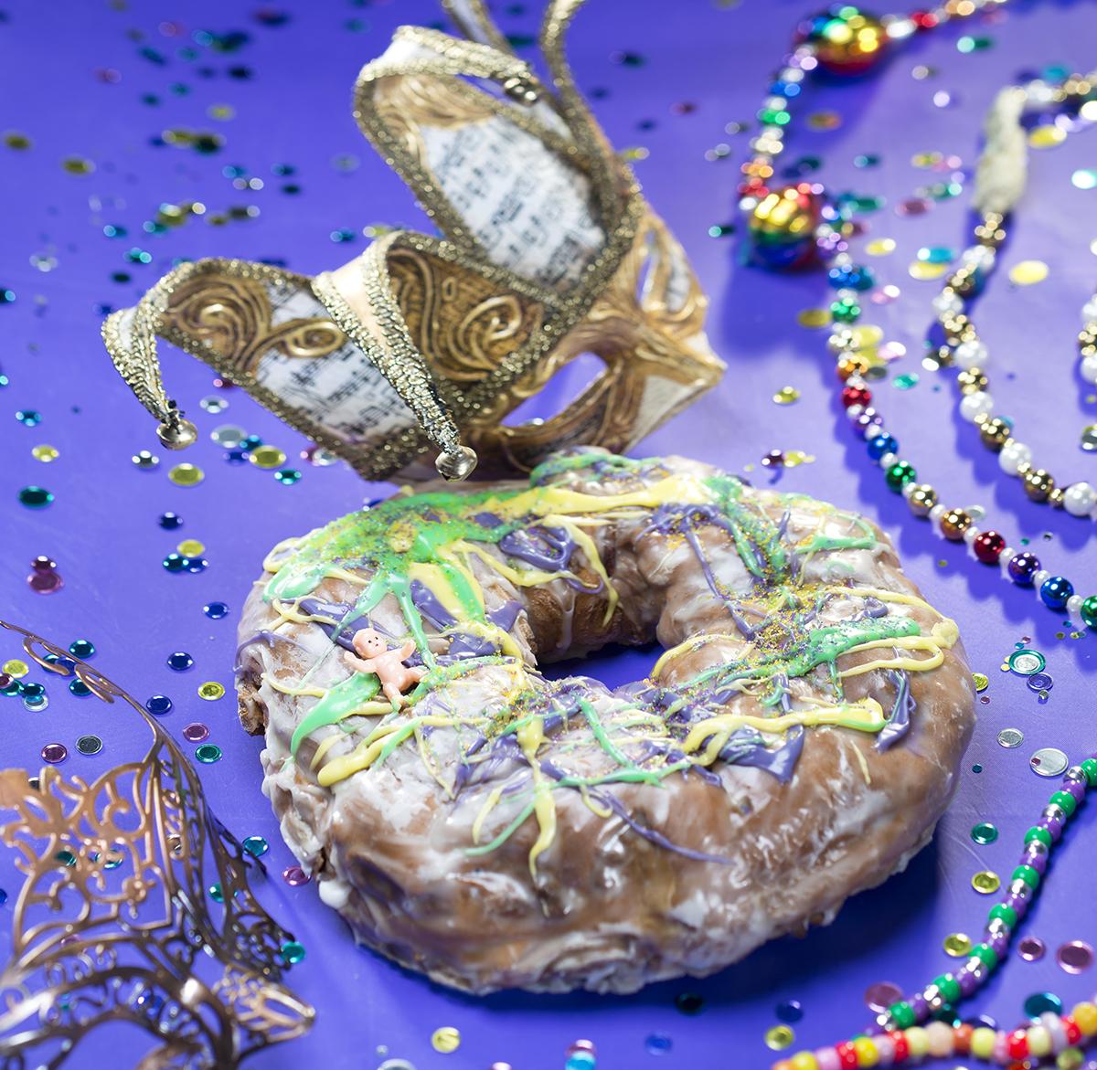 King cake at Kane's Donuts