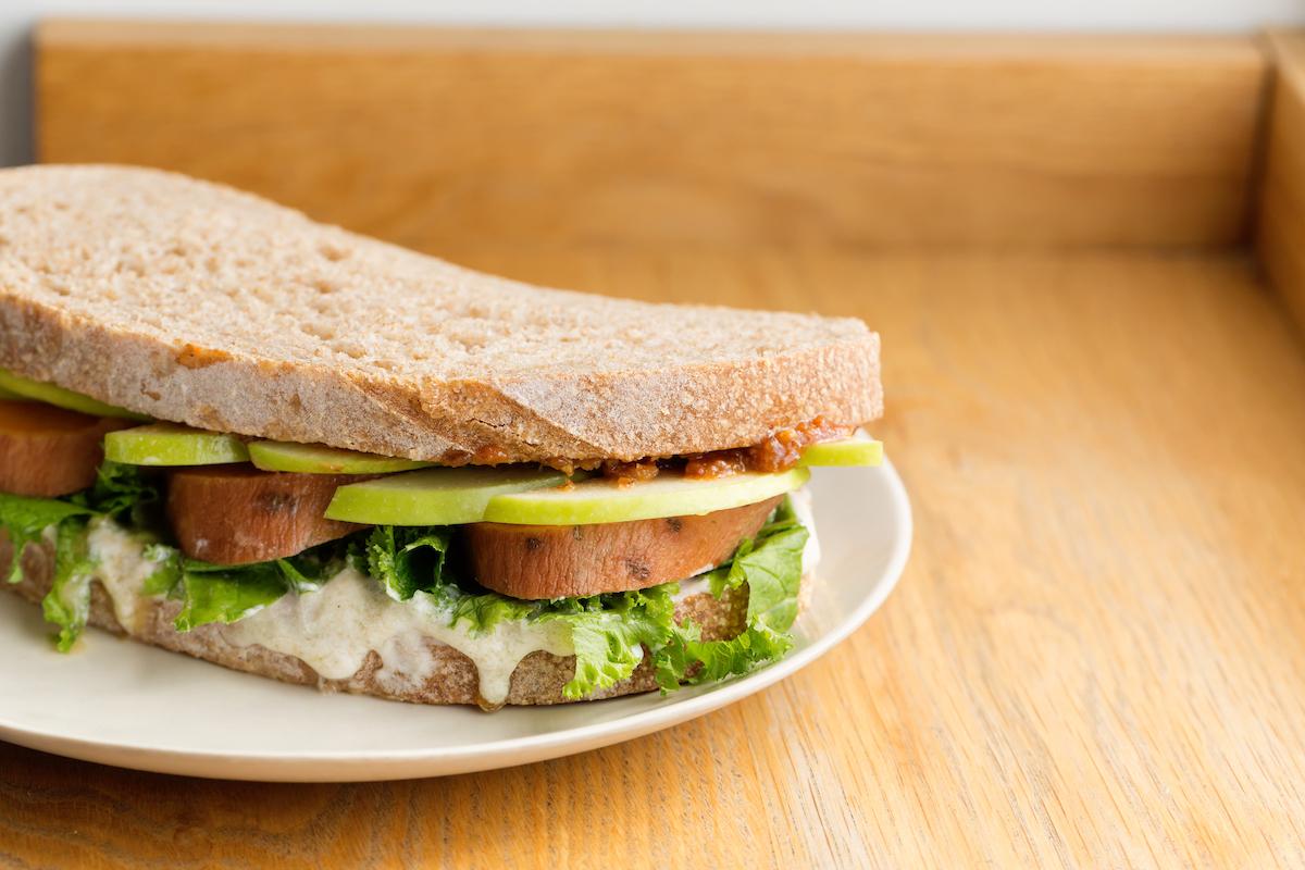The sweet potato sandwich at Flour