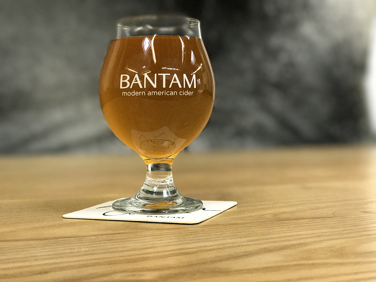 A pint of Bantam Ginger Beer at the Somerville taproom