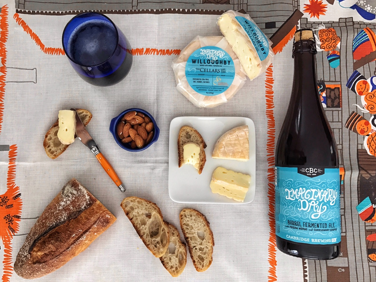 Cambridge Brewing Company and Jasper Hill Farm collaborated on Imaginary Day Willoughby Cheese
