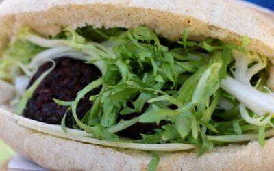 Mushroom scrapple sandwich at Clover