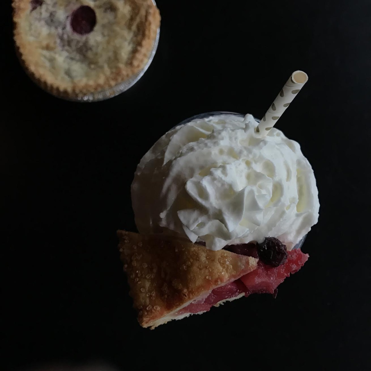 Rosebud American Kitchen and Bar's Cherry Berry Pie and milkshake Pi Day special