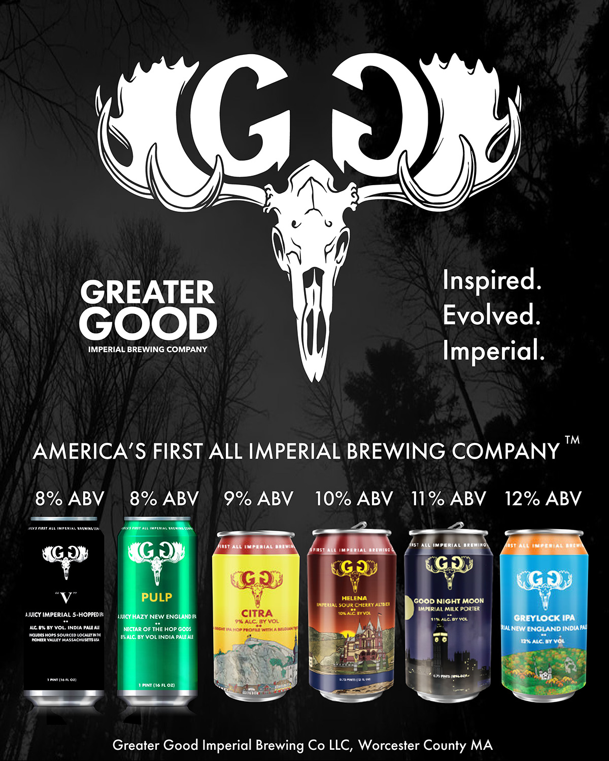 The current lineup from Greater Good. / Photo provided