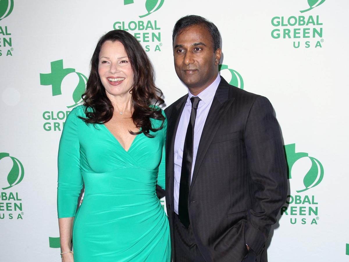 Ayyadurai and wife Fran Drescher. Photo via AP