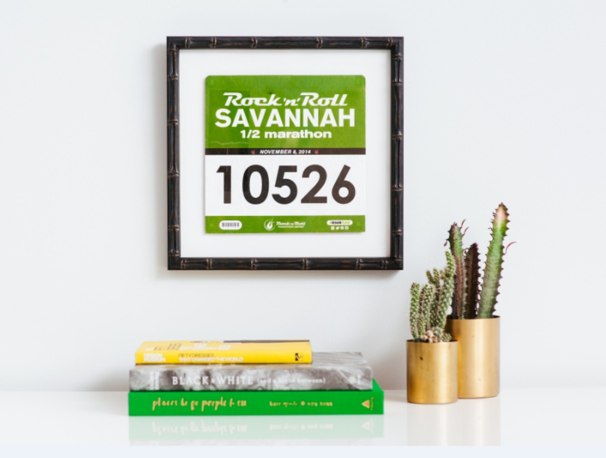 This Company Will Frame Your Marathon Bib for a (Low) Price