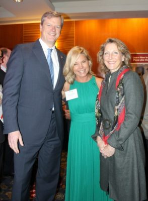 Governor Charlie Baker, Jennifer DiMartino, and Lauren Baker / Photo by David West of Born Imagery