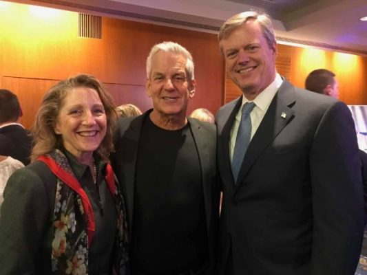 Lauren Baker, Lenny Clarke, and Governor Charlie Baker / Photo by David West of Born Imagery