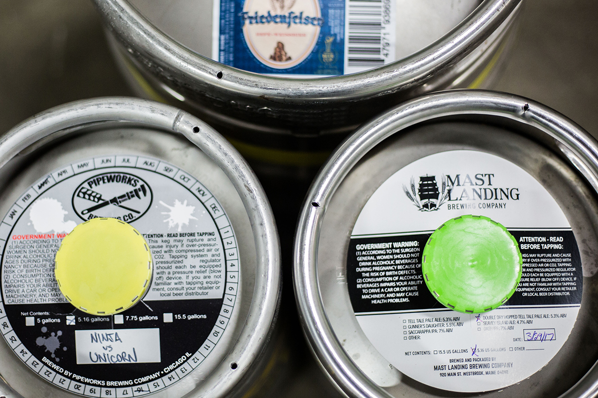 Kegs ready to go at Nigh Shift Distributing