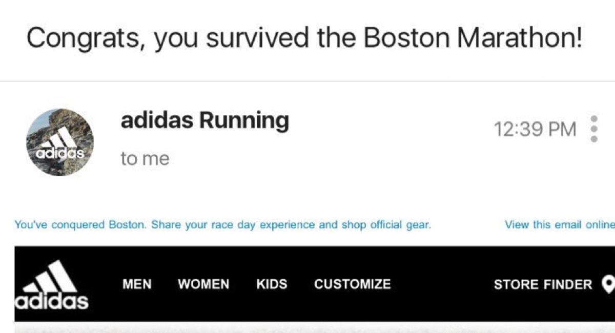 "Adidas Congratulates Marathon Runners for ""Surviving,"" Apologizes"