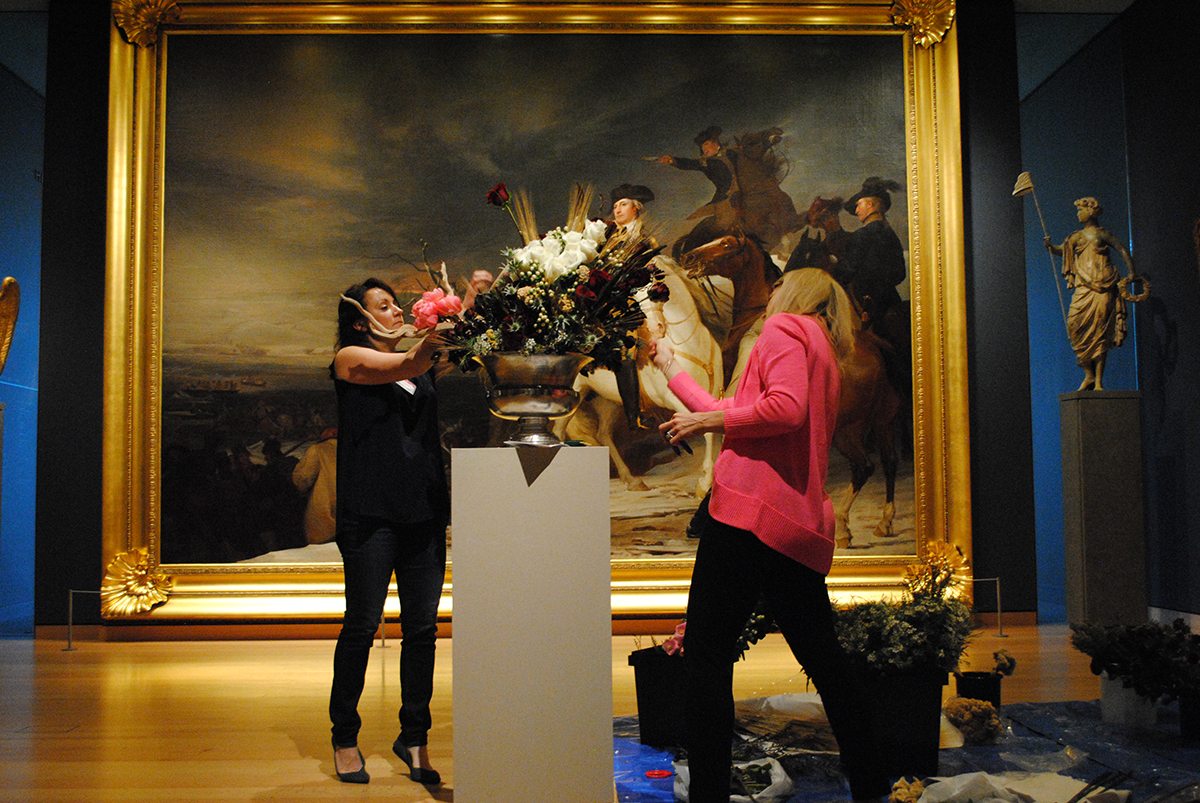 Photos the making of art in bloom at the mfa boston for Craft fair boston 2017