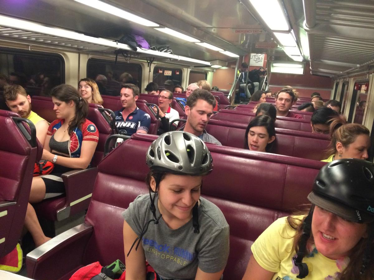 midnight marathon bike ride 2017 commuter rail