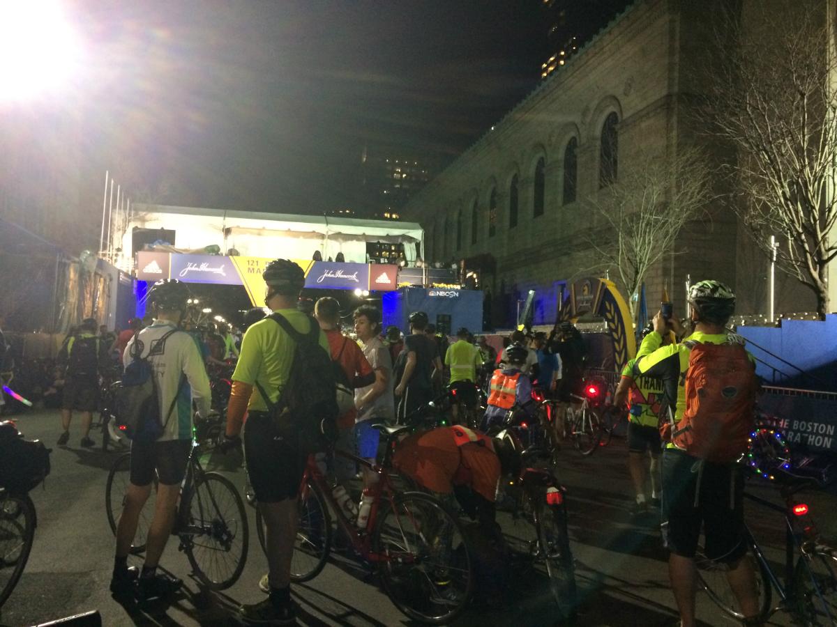 midnight marathon bike ride 2017 finish line