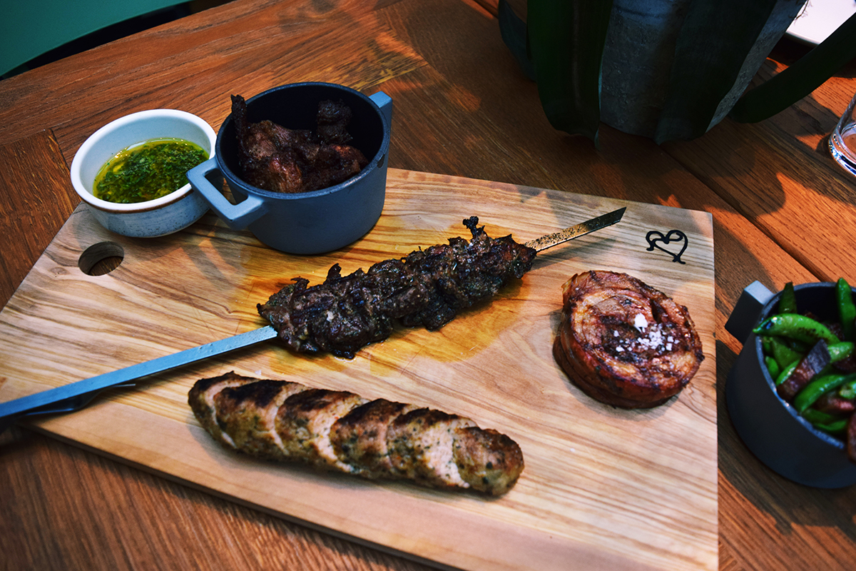 Grilled meats at Terra at Eataly Boston. / Photo provided