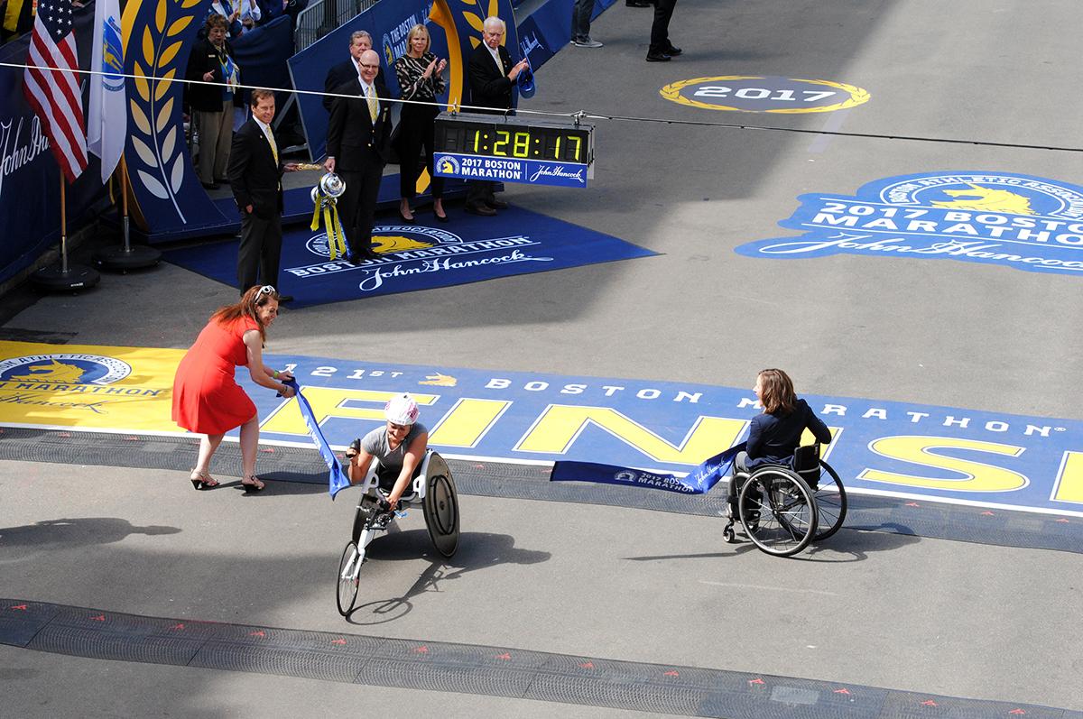 manuela schar Boston Marathon 2017 winner