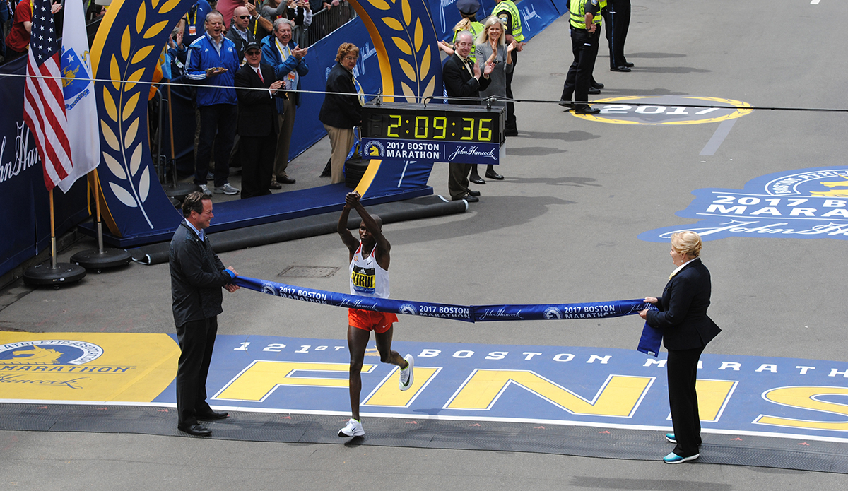 Boston Marathon 2017 winner mens elite