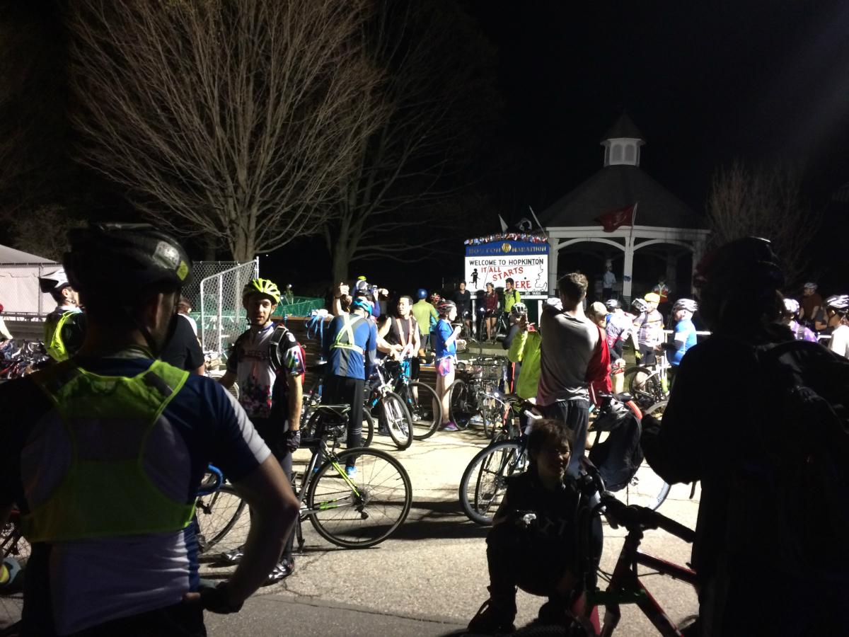 midnight marathon bike ride 2017 start line