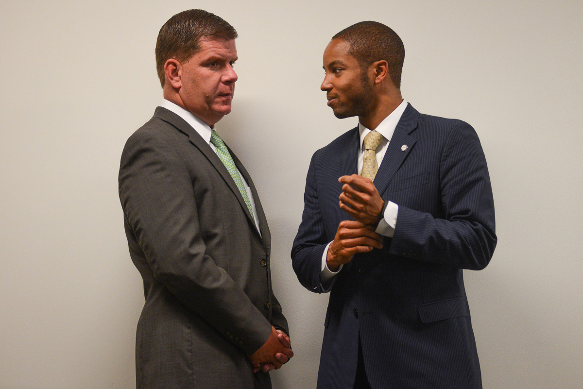 Walsh and Blackmon. Photo via Mayor's Office/Jeremiah Robinson