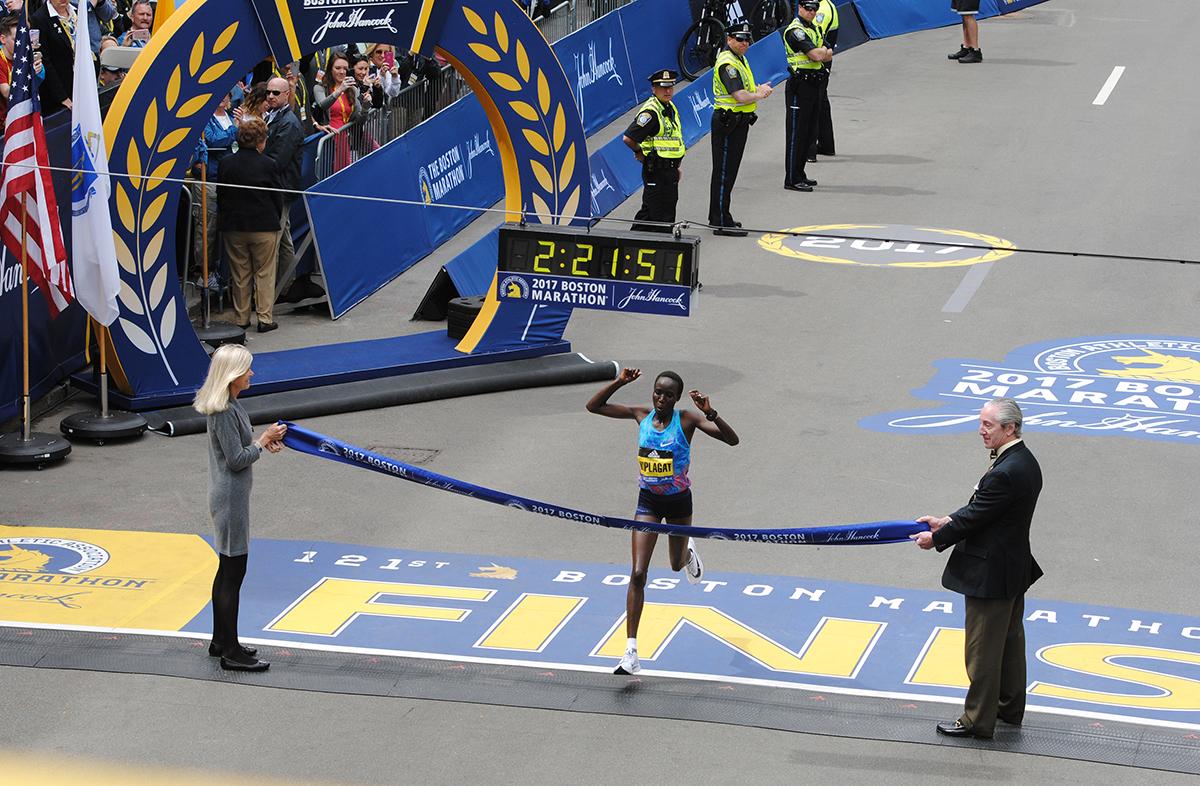 Boston Marathon 2017 winner womens elite