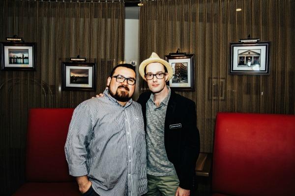 Oscar Alvarez and Michael Kalish (founder Following Boston) / Photo by Oscar Alvarez