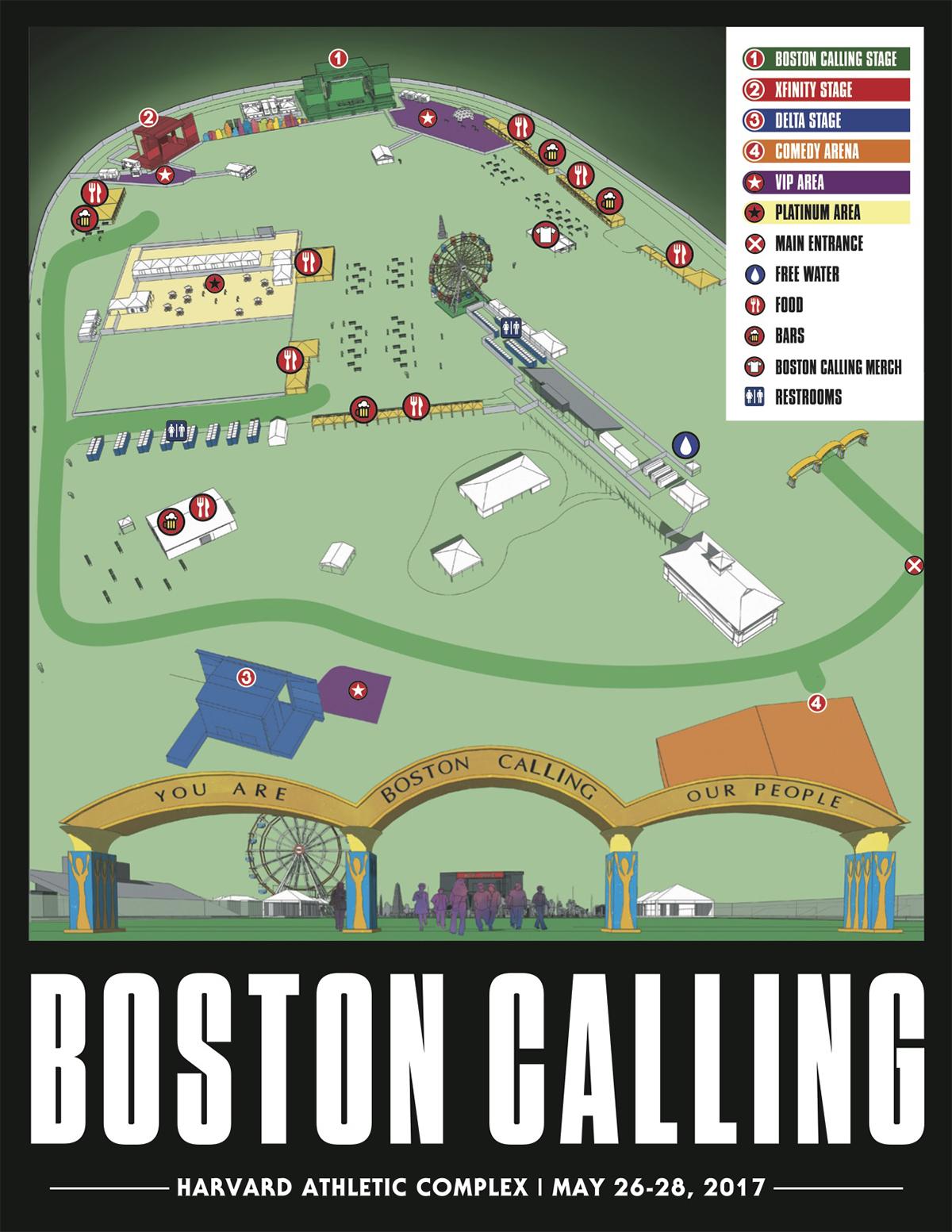 Boston Calling 2017 layout