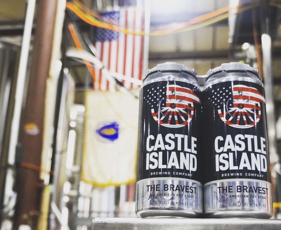 Cans of Castle Island's Black Ale Project beer will be available at the Norwood brewery Memorial Day weekend