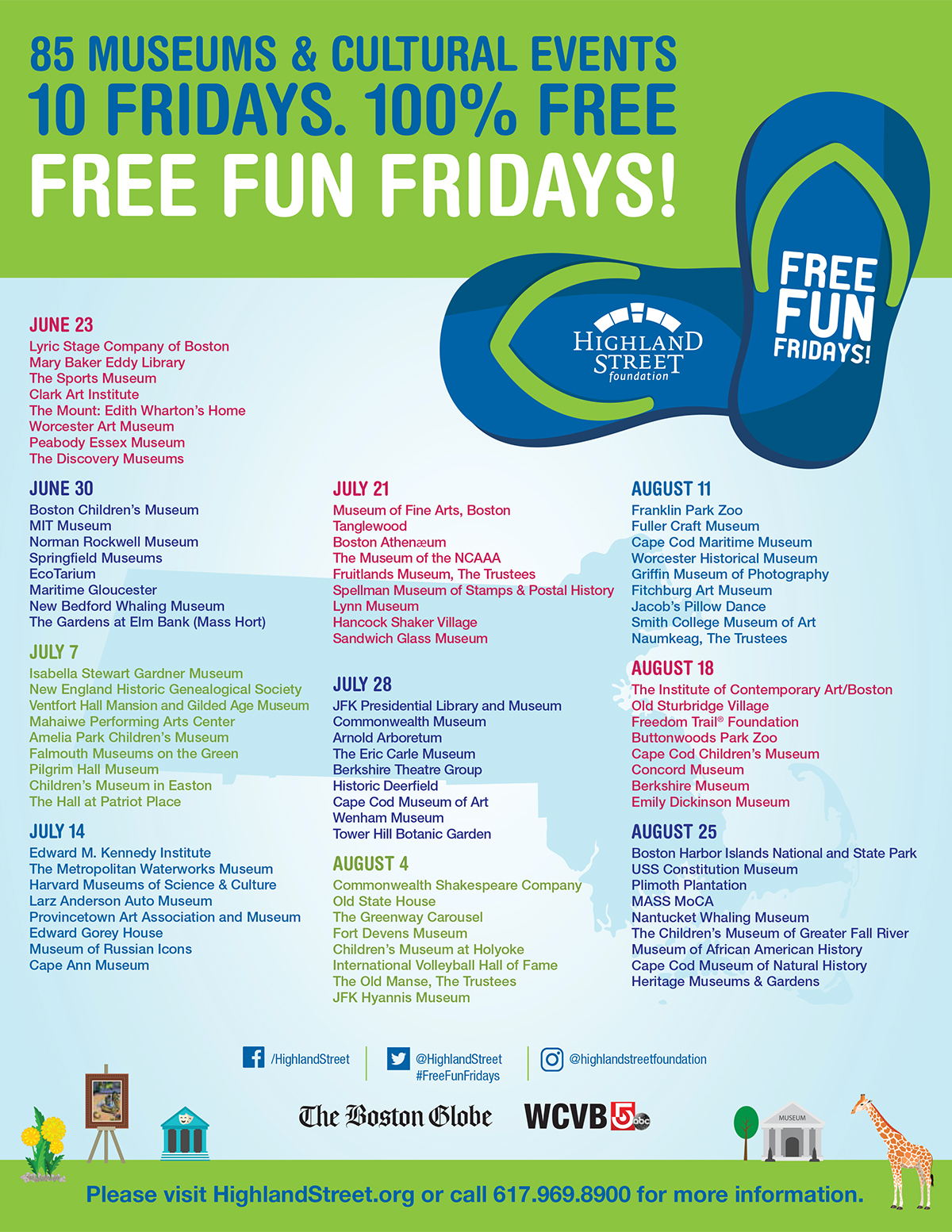free fun fridays 2017 schedule massachusetts