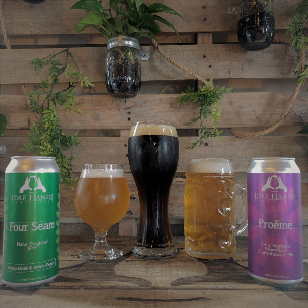 The Maifest beer lineup from Idle Hands Brewery