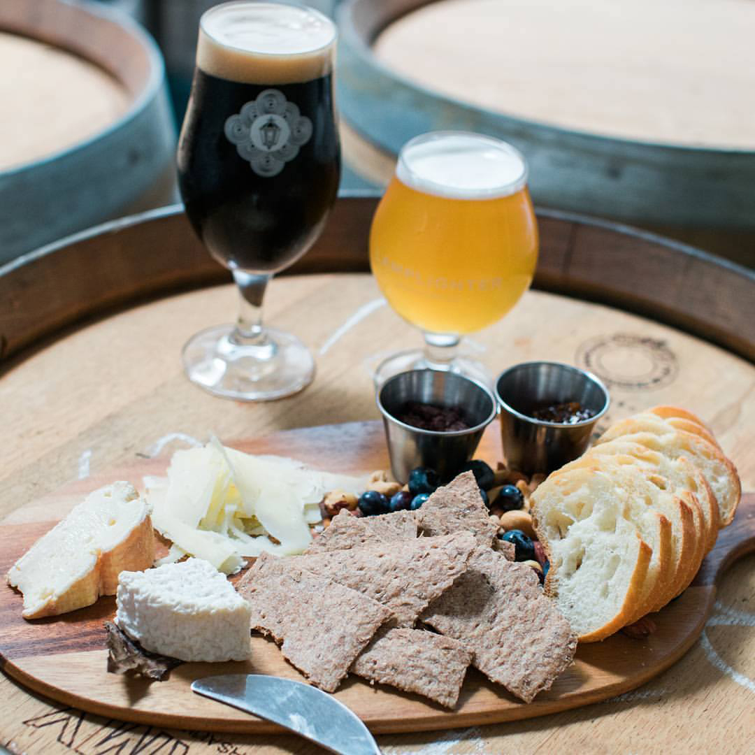 "Formaggio cheese ""flight"" photo courtesy of Lamplighter Brewing Co."