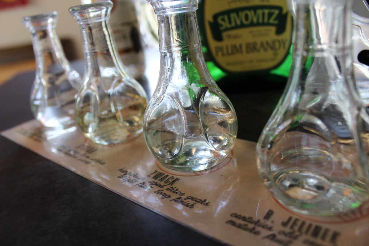Slivovitz flight at Mamaleh's